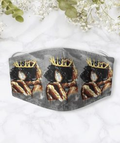 Watercolor painting black queen anti-dust cotton face mask 2