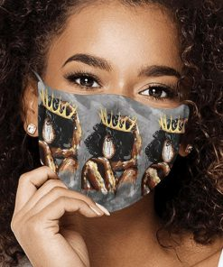 Watercolor painting black queen anti-dust cotton face mask 4