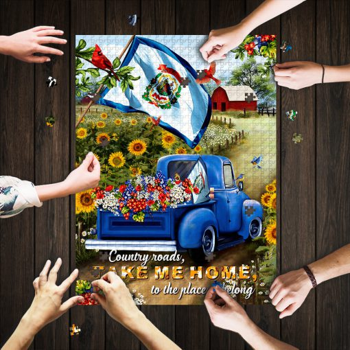 West virginia country roads take me home jigsaw puzzle 1