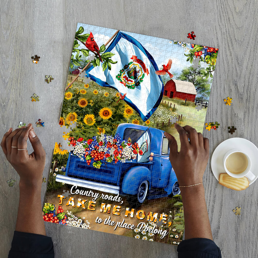 West virginia country roads take me home jigsaw puzzle 2