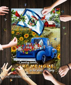 West virginia country roads take me home jigsaw puzzle