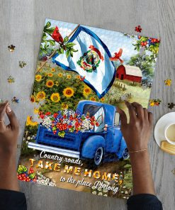 West virginia country roads take me home jigsaw puzzle 3