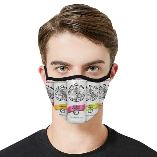 White claw hard seltzer anti-dust cotton face mask 4
