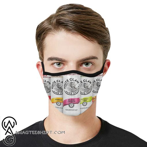 White claw hard seltzer anti-dust cotton face mask