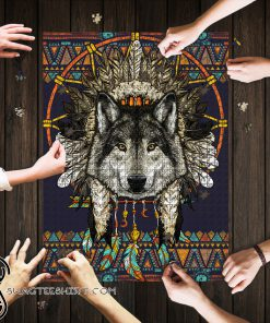 Wolf dreamcatcher native america jigsaw puzzle