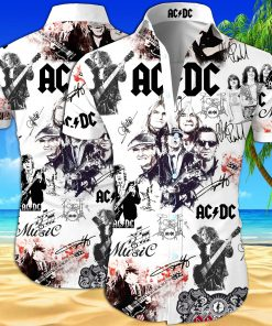 ACDC all over printed hawaiian shirt 1