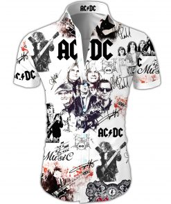 ACDC all over printed hawaiian shirt 3