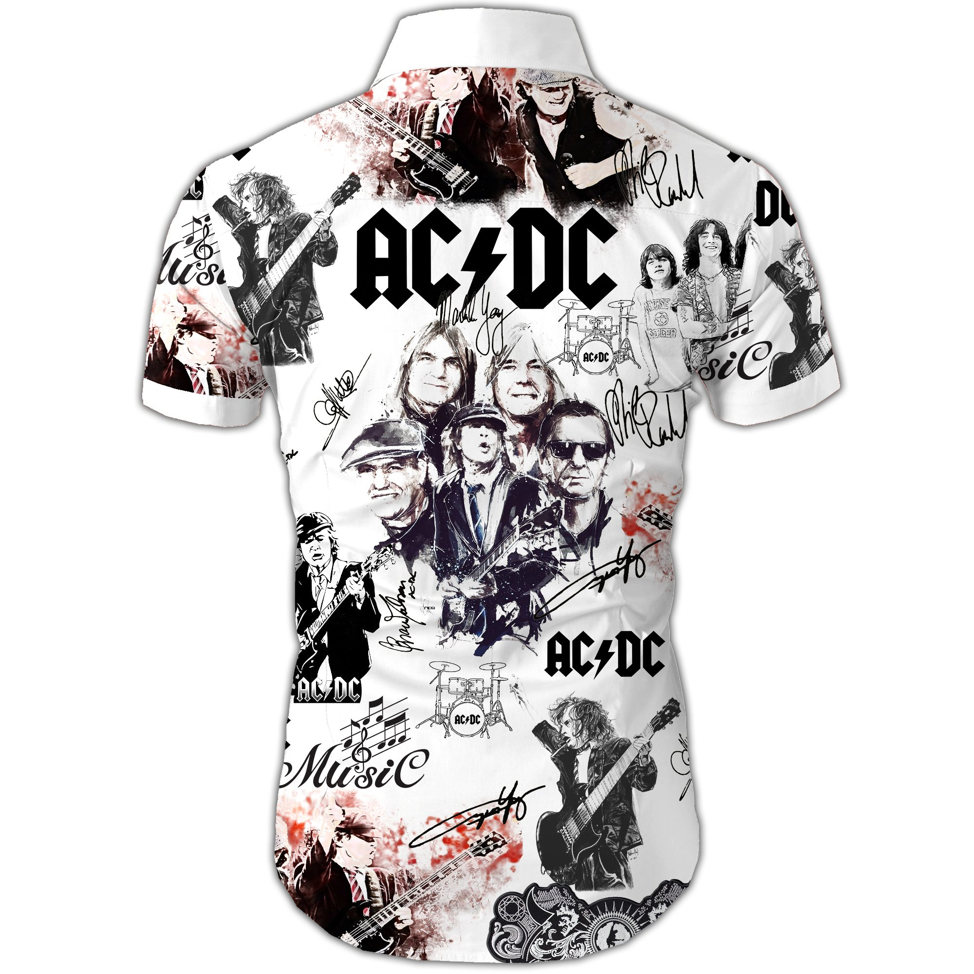 ACDC all over printed hawaiian shirt 4