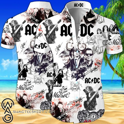 ACDC all over printed hawaiian shirt