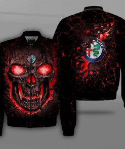 Alfa romeo lava skull full printing bomber