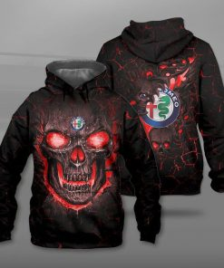 Alfa romeo lava skull full printing hoodie