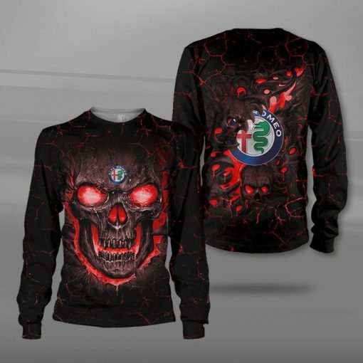 Alfa romeo lava skull full printing sweatshirt