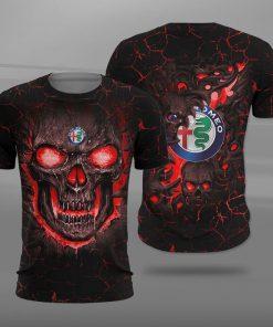 Alfa romeo lava skull full printing tshirt