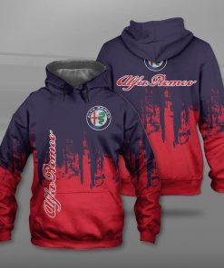Alfa romeo logo full printing hoodie