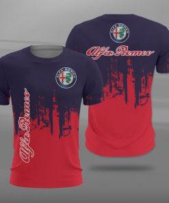 Alfa romeo logo full printing tshirt