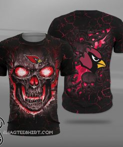 Arizona cardinals lava skull full printing shirt