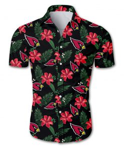 Arizona cardinals tropical flower hawaiian shirt 1