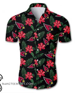Arizona cardinals tropical flower hawaiian shirt