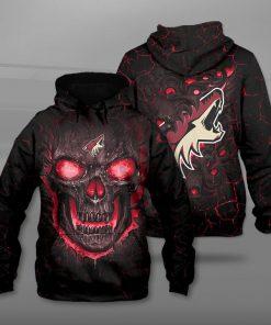 Arizona coyotes lava skull full printing hoodie