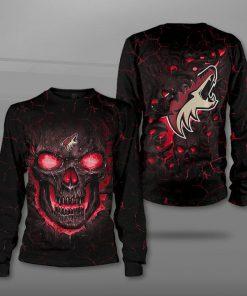 Arizona coyotes lava skull full printing sweatshirt