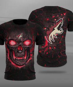 Arizona coyotes lava skull full printing tshirt