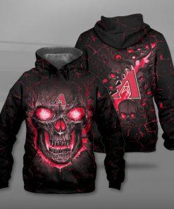 Arizona diamondbacks lava skull full printing hoodie
