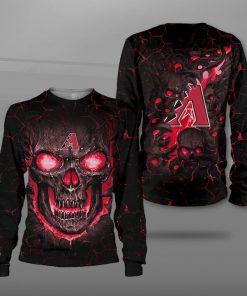 Arizona diamondbacks lava skull full printing tshirt