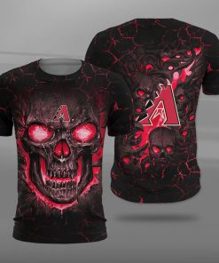 Arizona diamondbacks lava skull full printing tshirt