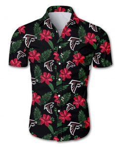 Atlanta falcons tropical flower hawaiian shirt 3