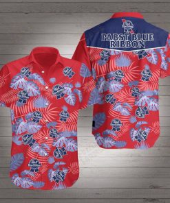 Beer pabst blue ribbon hawaiian shirt 1