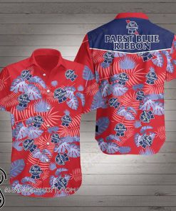 Beer pabst blue ribbon hawaiian shirt