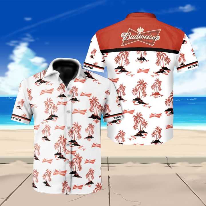 Budweiser beer floral hawaiian shirt 3