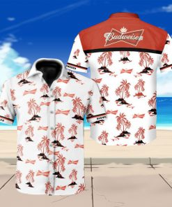 Budweiser beer floral hawaiian shirt 4