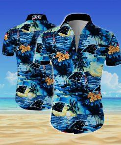 Carolina panthers all over printed hawaiian shirt 2
