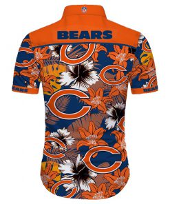 Chicago bears tropical flower hawaiian shirt 4