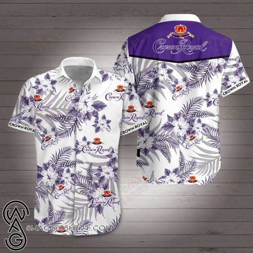 Crown royal canadian whisky hawaiian shirt