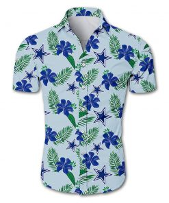 Dallas cowboys tropical flower hawaiian shirt 1