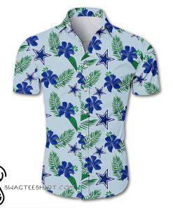 Dallas cowboys tropical flower hawaiian shirt