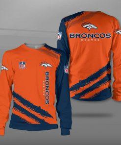Denver broncos team football full printing sweatshirt