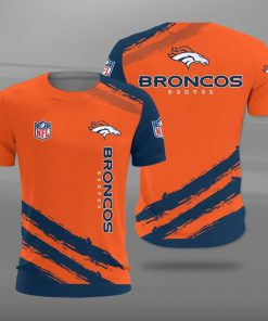 Denver broncos team football full printing tshirt