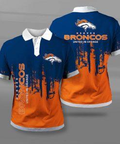Denver broncos united in orange full printing polo