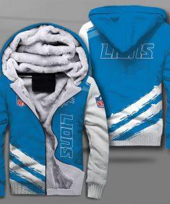 Detroit lions football team full printing fleece hoodie