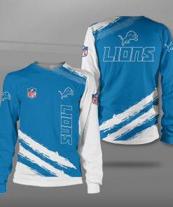 Detroit lions football team full printing sweatshirt