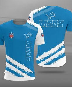 Detroit lions football team full printing tshirt