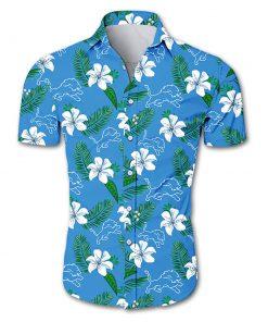 Detroit lions tropical flower hawaiian shirt 2