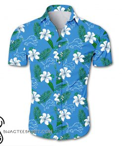 Detroit lions tropical flower hawaiian shirt