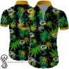 Green bay packers cannabis all over printed hawaiian shirt