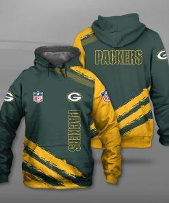 Green bay packers football team full printing hoodie