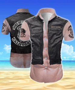 Harley-davidson son of anarchy california all over printed hawaiian shirt 1