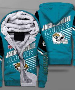 Jacksonville jaguars football team full printing fleece hoodie